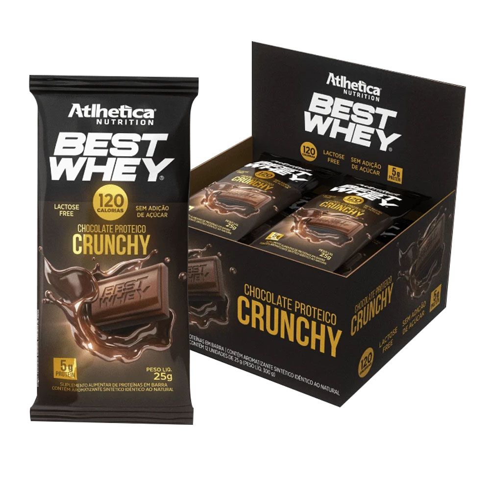 Best Whey Chocolate Proteico Crunchy 25g - Cx 12 Un  - KFit Nutrition