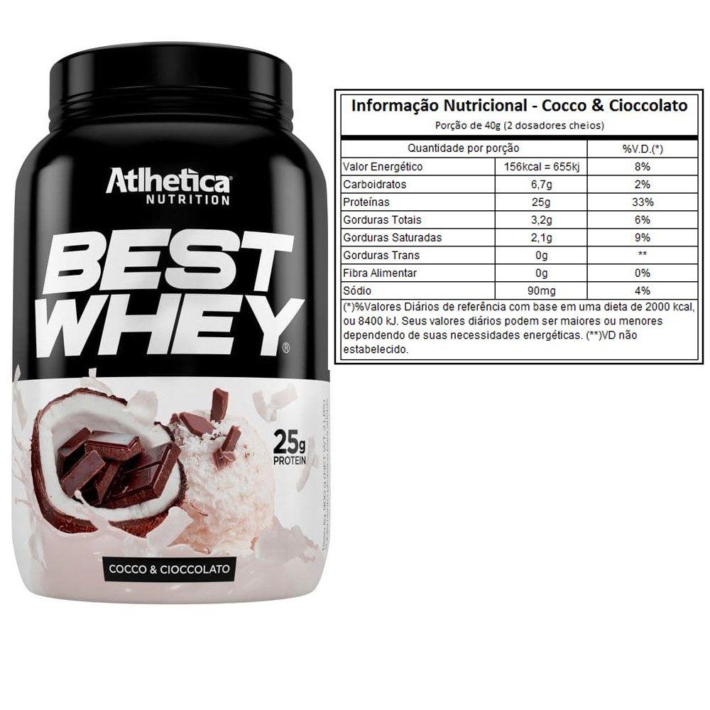 Best Whey Cocco Cioccolato 900g + Bcaa 60 + Creatina 100g  - KFit Nutrition
