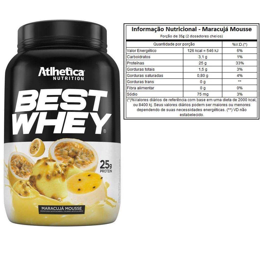 Best Whey Maracujá Mousse 900g +Bcaa 60 Caps +Creatina 100g  - KFit Nutrition