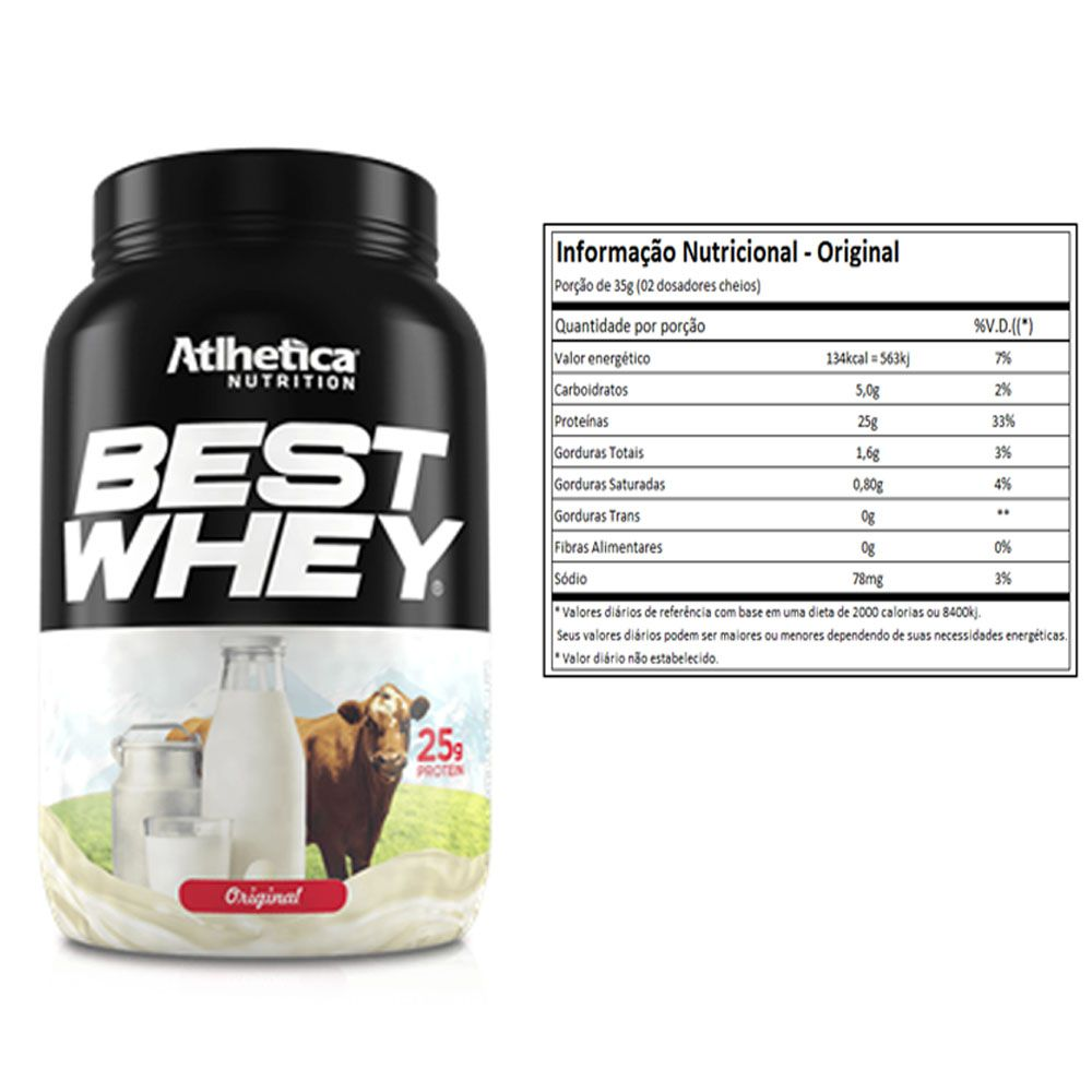 Best Whey Original 900g + Bcaa 60 Caps + Creatina 100g  - KFit Nutrition