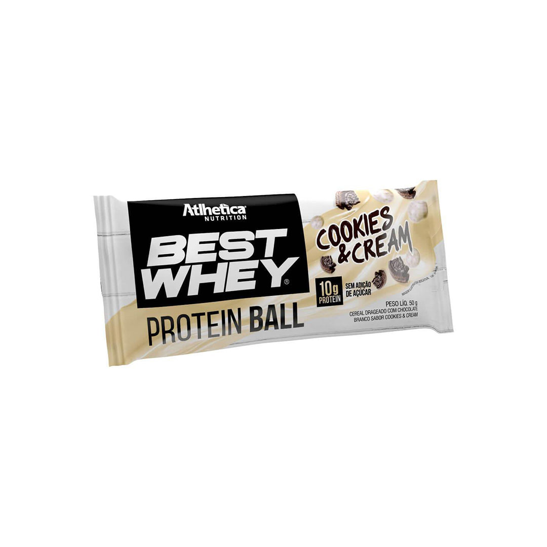 Best Whey Protein Ball Atlhetica Cookies & Cream  - KFit Nutrition