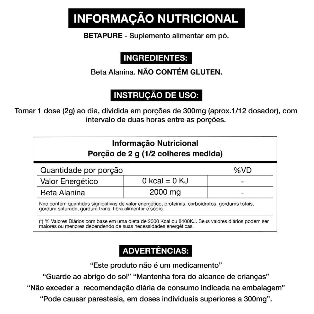 Betapure 200g - Beta Alanina Adaptogen  - KFit Nutrition