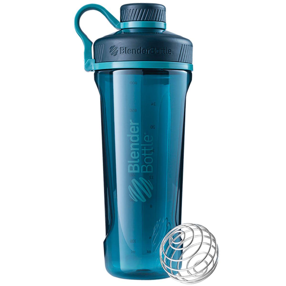 Blender Bottle Radian Fullcolor Verde Marinho  - KFit Nutrition
