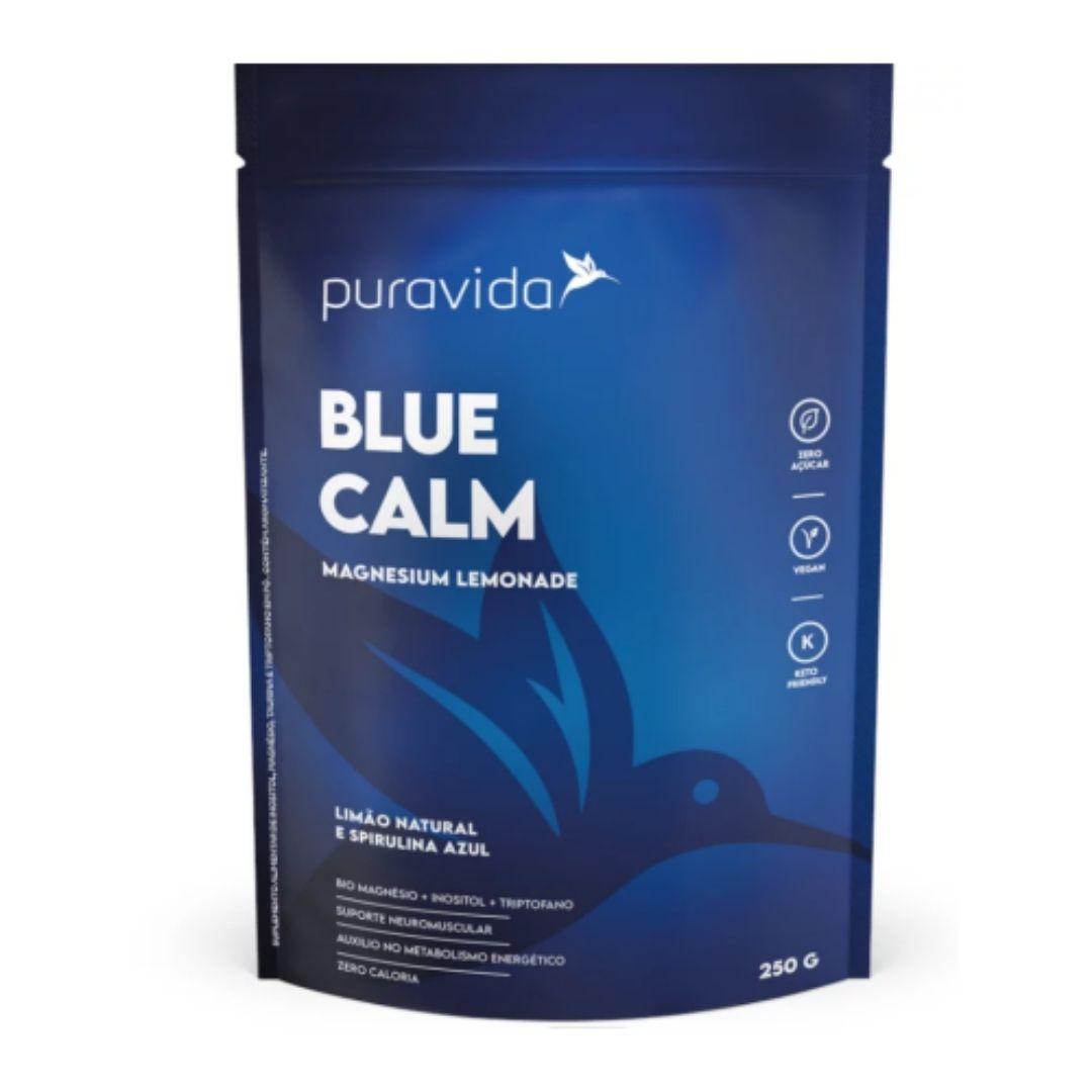 Blue Calm Limão Natural e Spirulina Azul 250g - Puravida  - KFit Nutrition