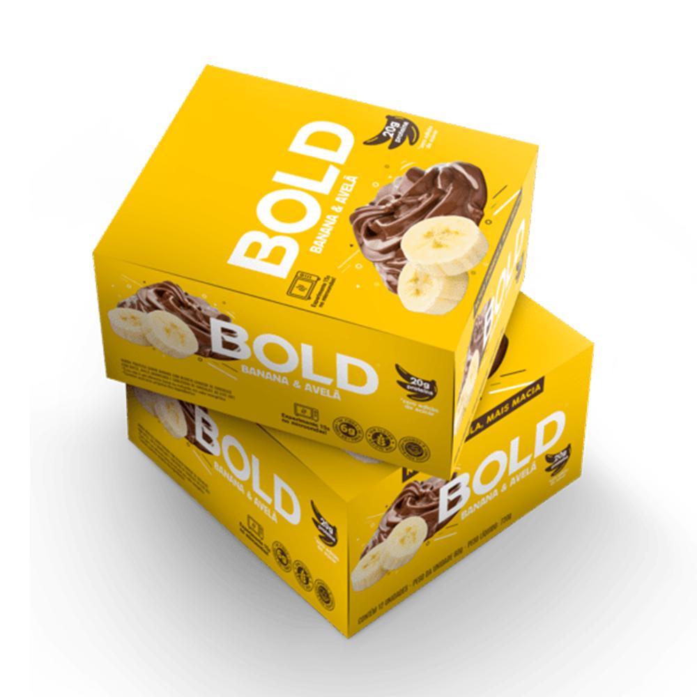 Bold Bar Banana e Avela Nova Fórmula Cx 12 Un 720g  - KFit Nutrition