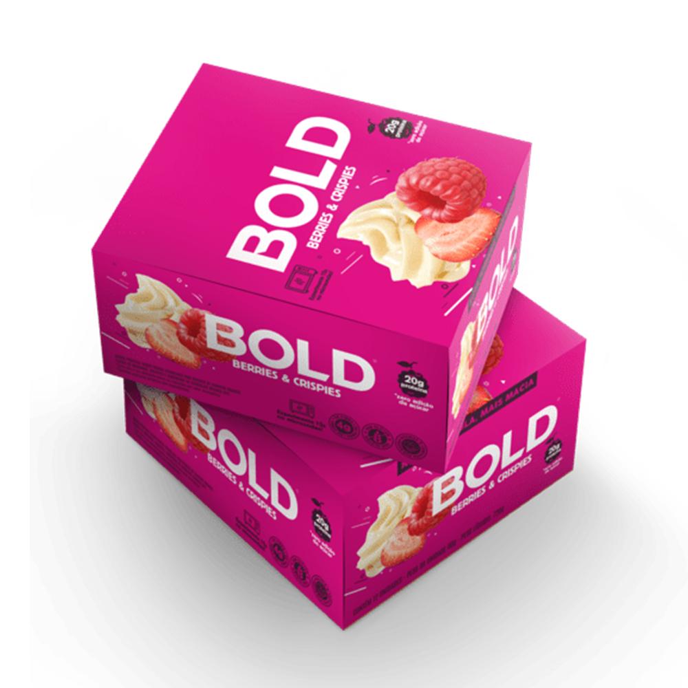 Bold Bar Berries e Crispies Nova Fórmula Cx 12 Un 720g  - KFit Nutrition