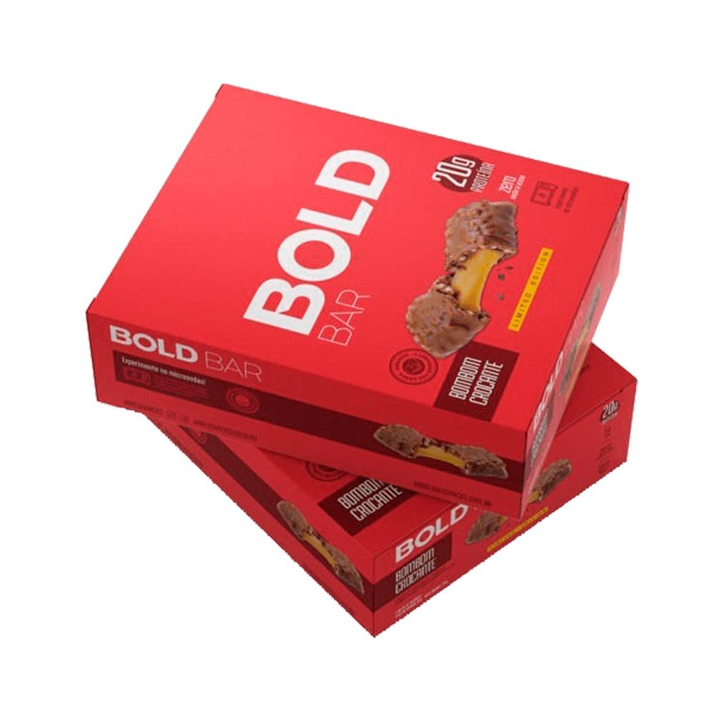 Bold Bar Bombom Crocante Nova Fórmula Cx 12 Un 720g  - KFit Nutrition