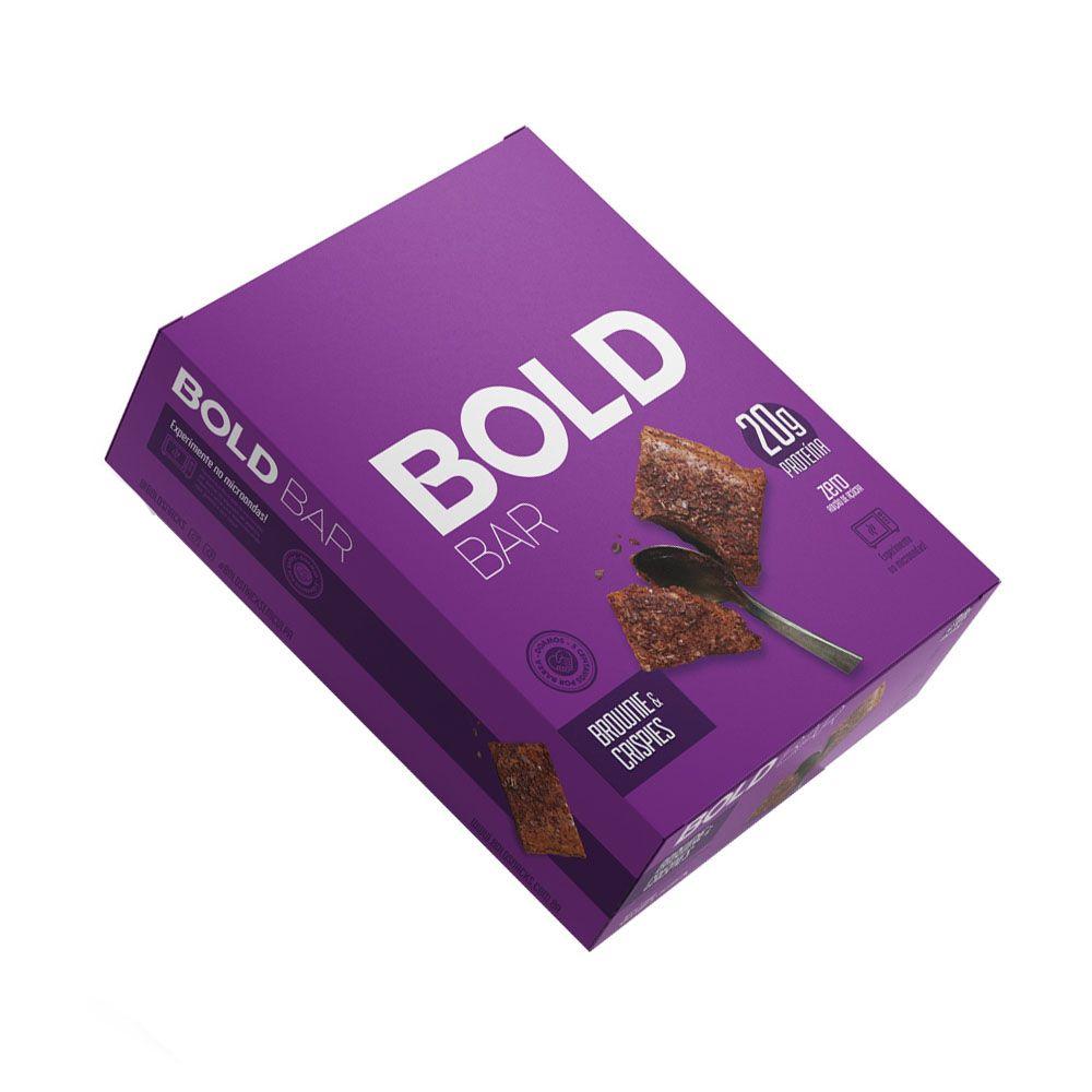Bold Bar Brownie & Crispies Cx 12 Un  - KFit Nutrition
