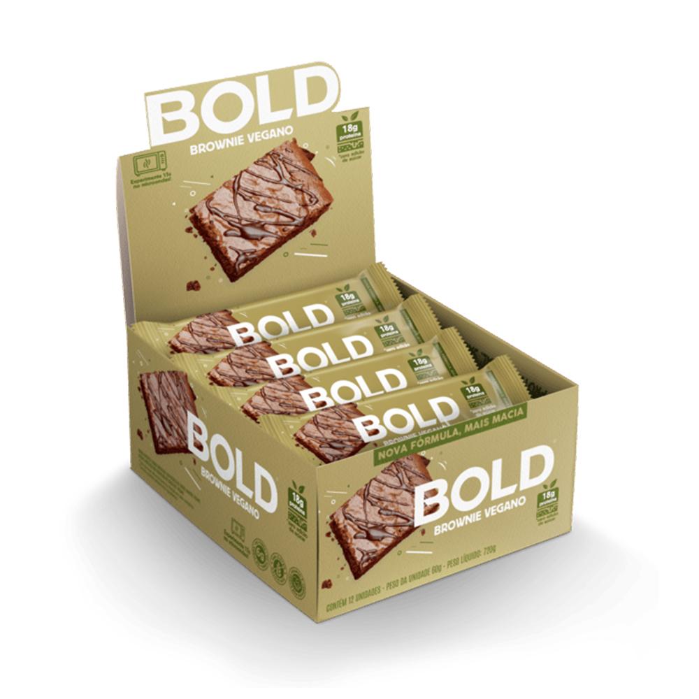 Bold Bar Brownie Vegano Nova Fórmula Cx 12 Un 720g  - KFit Nutrition