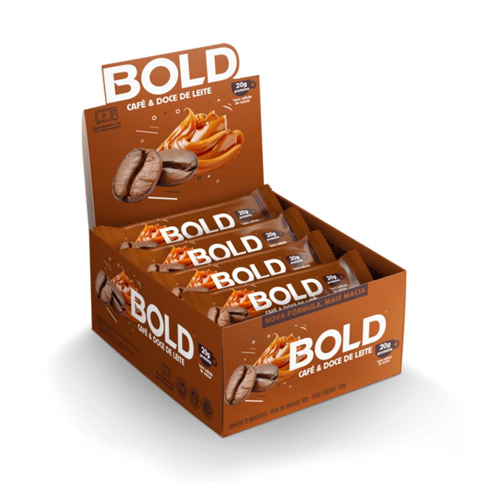 Bold Bar Cafe e Doce de Leite Nova Fórmula Cx 12 Un 720g  - KFit Nutrition