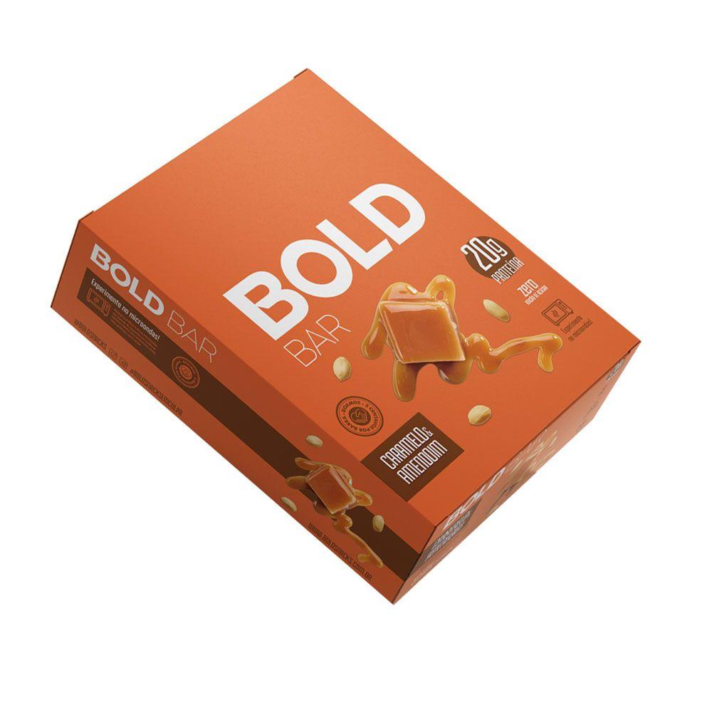 Bold Bar Caramelo & Amendoim Cx 12 Un  - KFit Nutrition