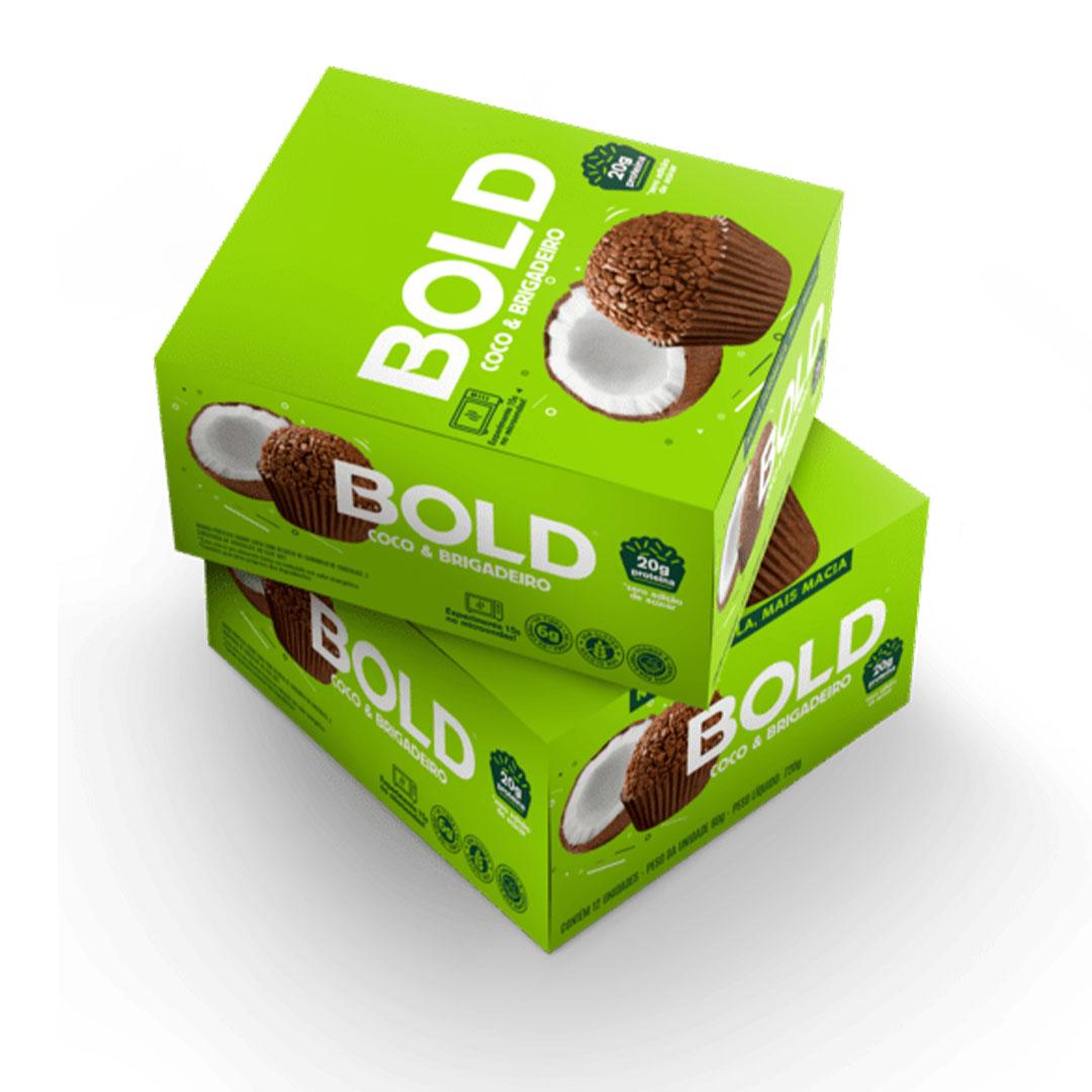 Bold Bar Coco e Brigadeiro Nova Fórmula Cx 12 Un 720g  - KFit Nutrition