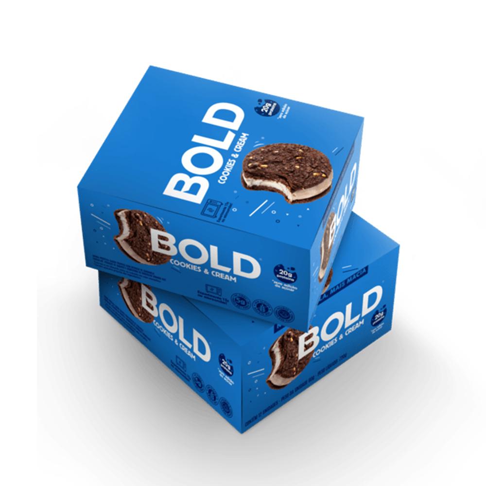 Bold Bar Cookies e Cream Nova Fórmula Cx 12 Un 720g  - KFit Nutrition