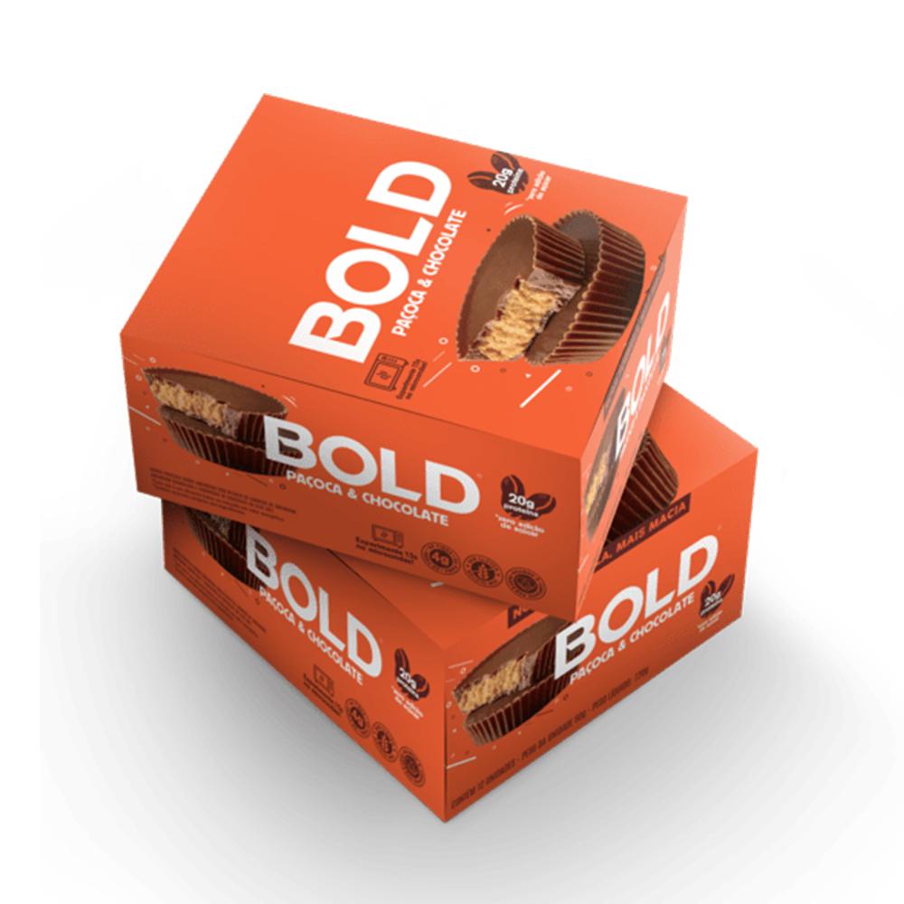 Bold Bar Pacoca e Chocolate Nova Fórmula Cx 12 Un 720g  - KFit Nutrition