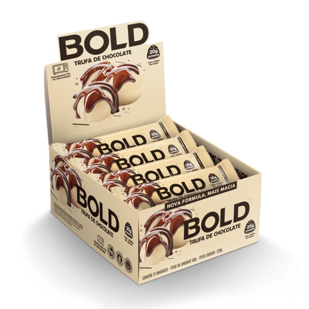 Bold Bar Trufa de Chocolate Nova Fórmula Cx 12 Un 720g  - KFit Nutrition