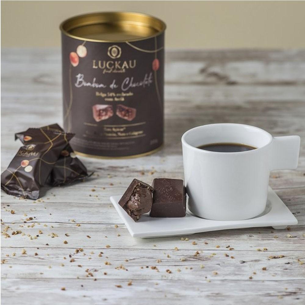 Bombom de Chocolate Belga Recheado com Avelã - Luckau  - KFit Nutrition