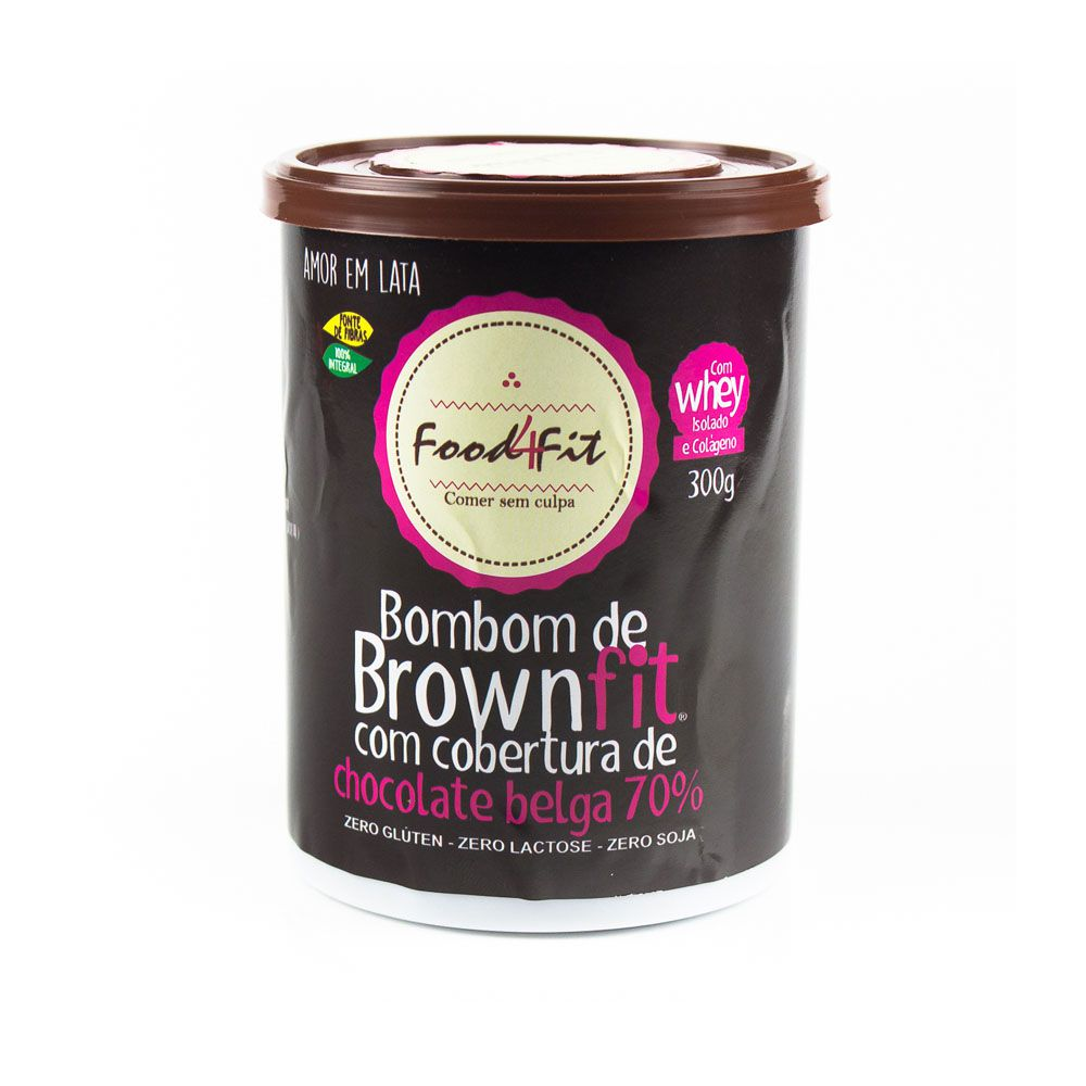 Brownie Fit Amor em Lata 300G Food 4 Fit  - KFit Nutrition