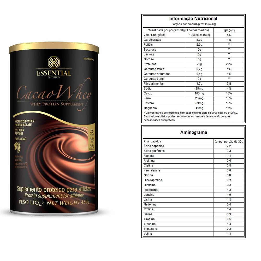 Cacao Whey 450G - Essential e Supercoffee 220g Chocolate  - KFit Nutrition
