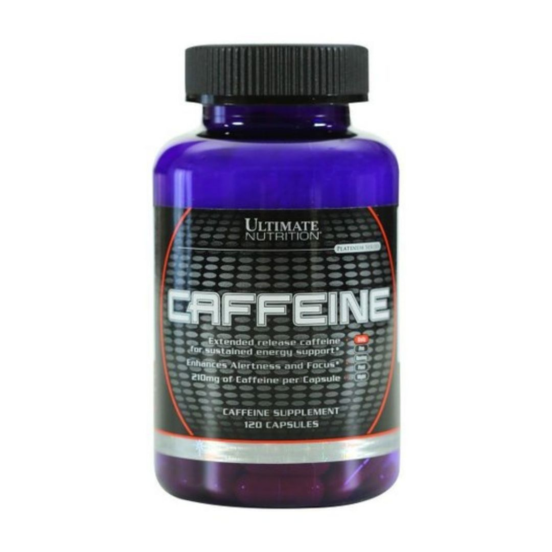 Caffeine 120 Cáps - Ultimate Nutrition  - KFit Nutrition