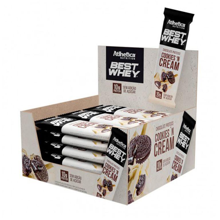 Caixa Best Whey Cookies N Cream Chocolate Proteico Branco 12 unidade  - KFit Nutrition
