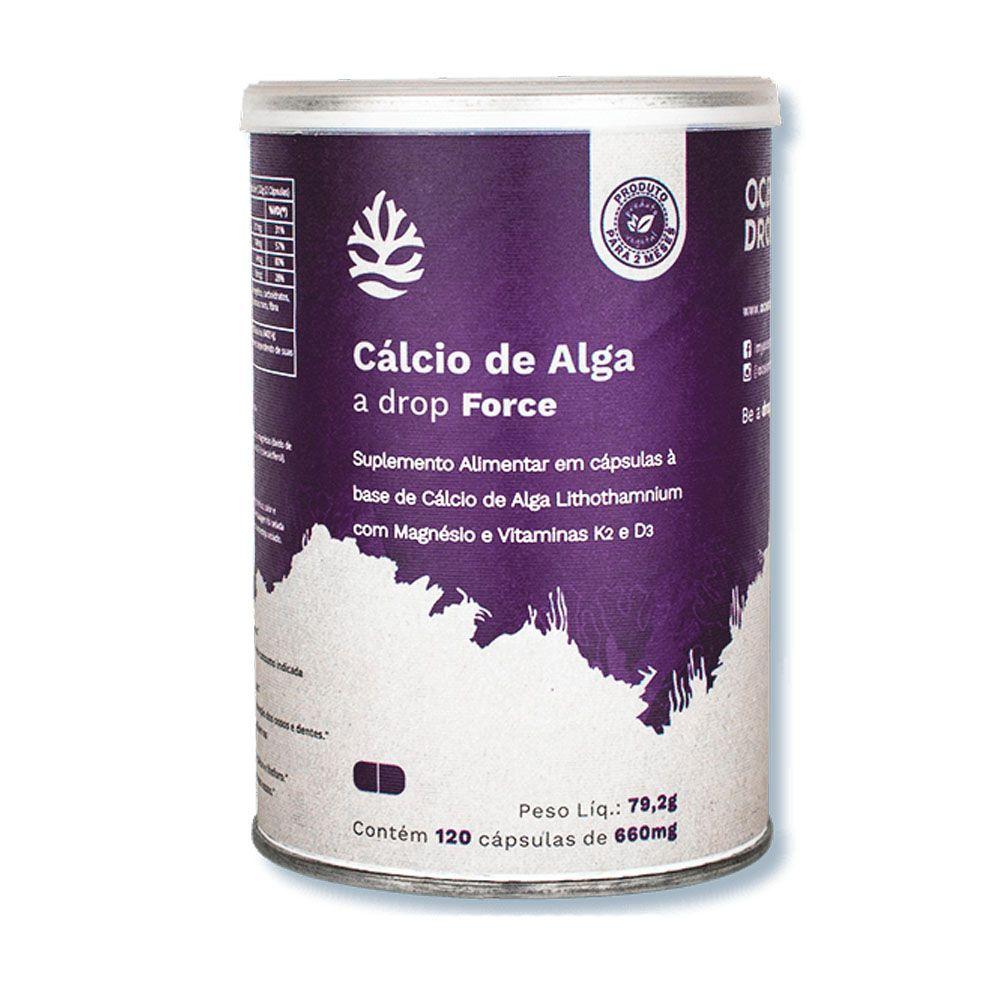 Cálcio de Algas 120 Caps Ocean Drop  - KFit Nutrition