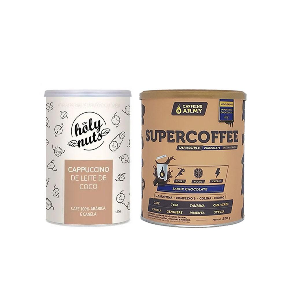 Cappuccino De Leite de Coco 120g e Supercoffee 220g  - KFit Nutrition