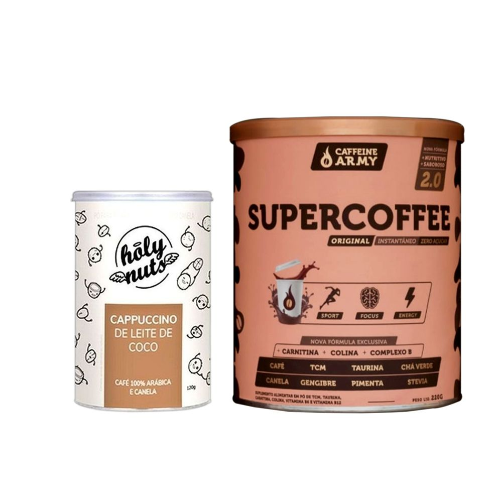 Cappucino 120g + Supercoffee 2.0 220g  - KFit Nutrition