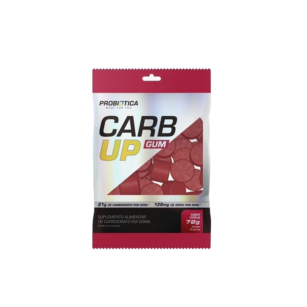 Carb Up Gum 18 Pastilha em Goma Cereja - Probiótica  - KFit Nutrition