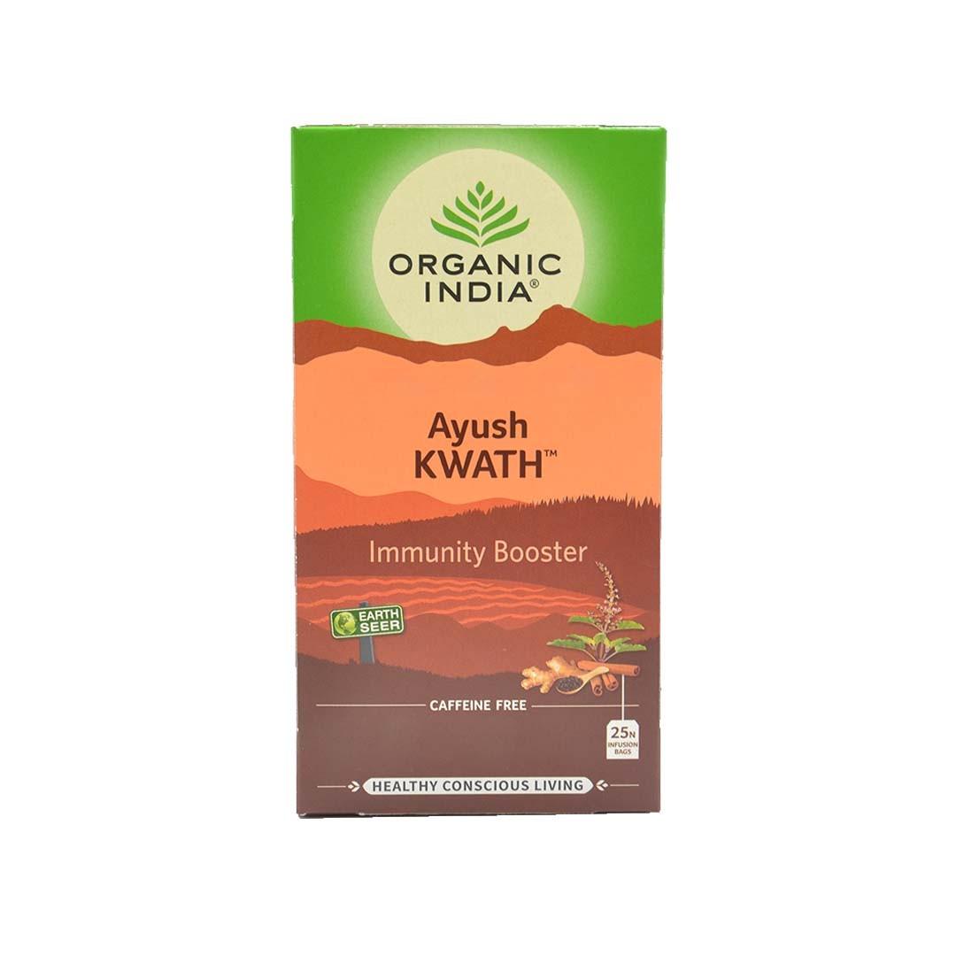 Chá Ayush KWATH 25 Sachês Organic India  - KFit Nutrition