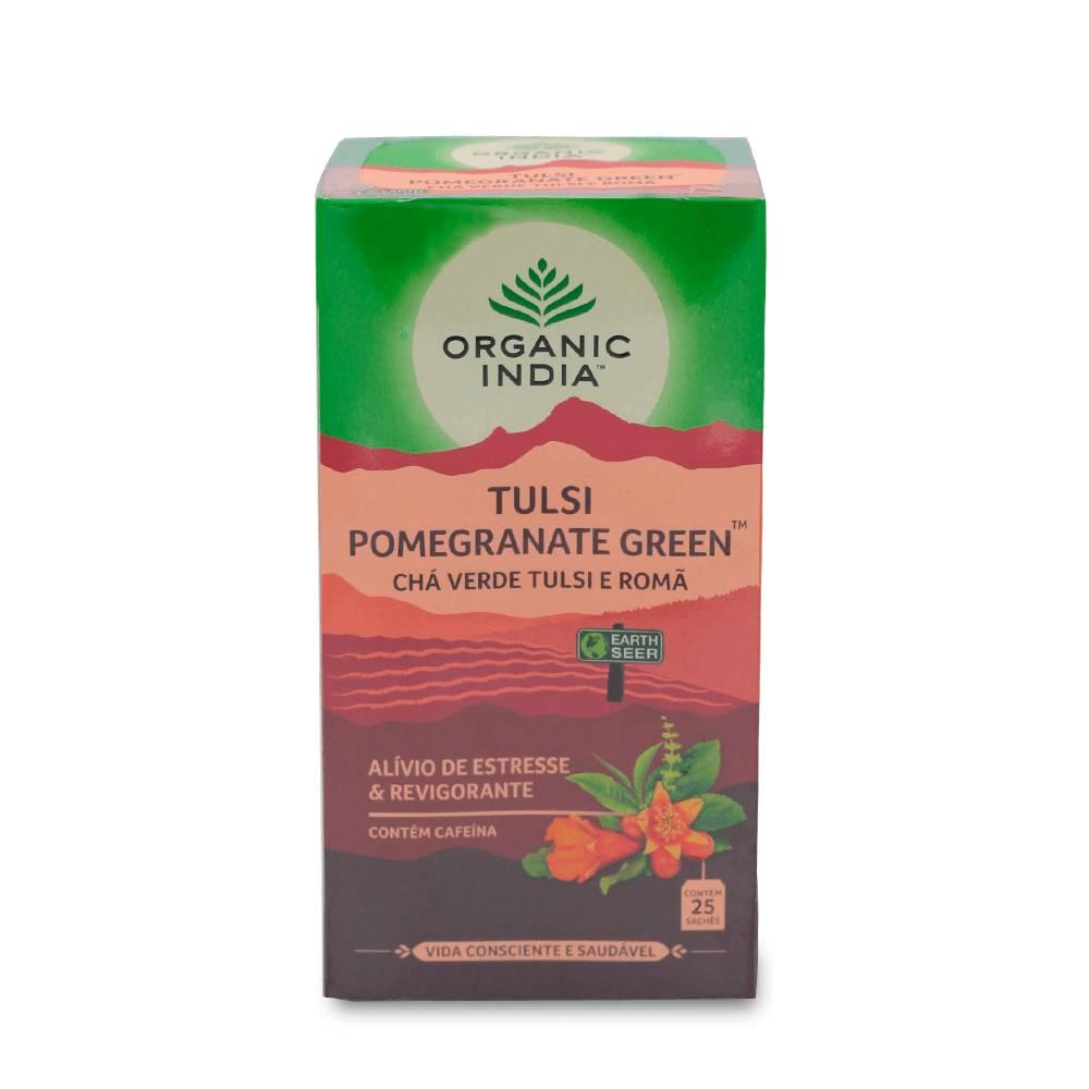 Chá Verde Tulsi e Romã 25 Sachês Organic India  - KFit Nutrition