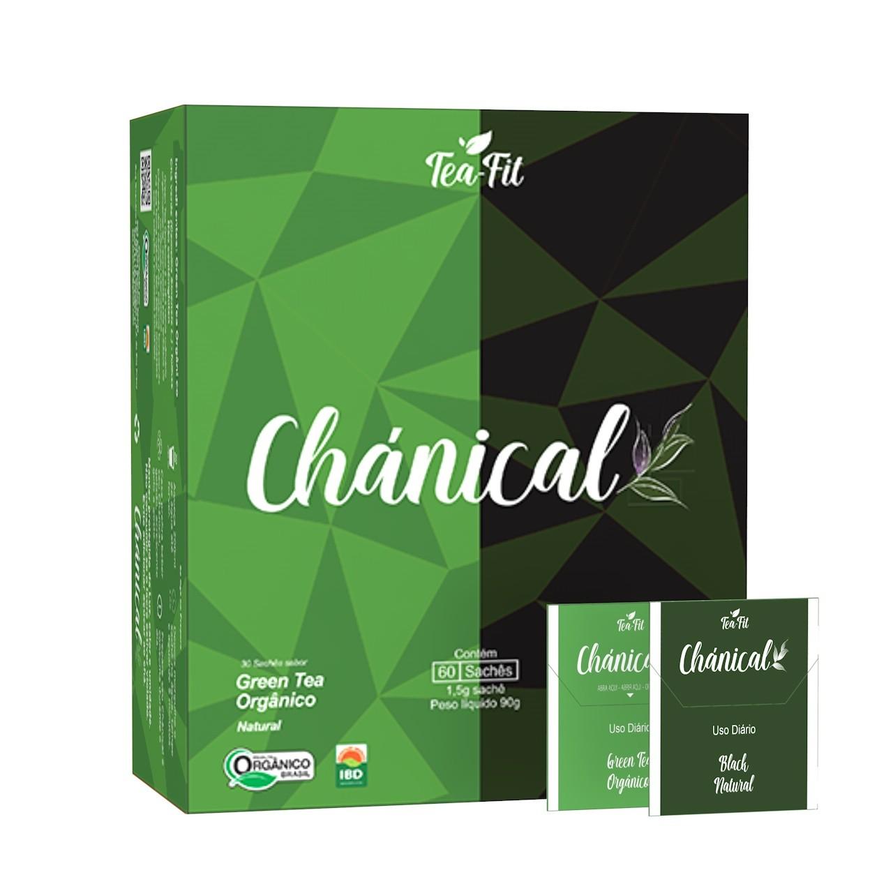 Chánical Tea-Fit 60 Saches Black Natural e Green Tea Orgânico  - KFit Nutrition