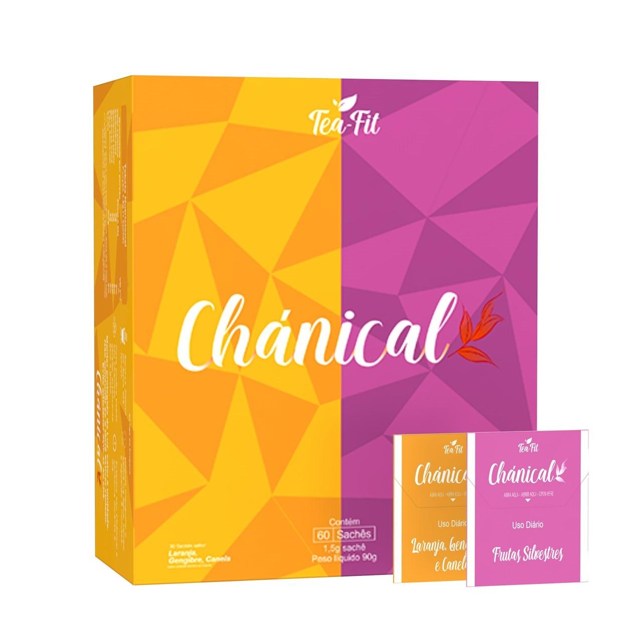 Chánical Tea-Fit 60 Saches Frutas Silvestre e Laranja, Gengibre e Canela  - KFit Nutrition