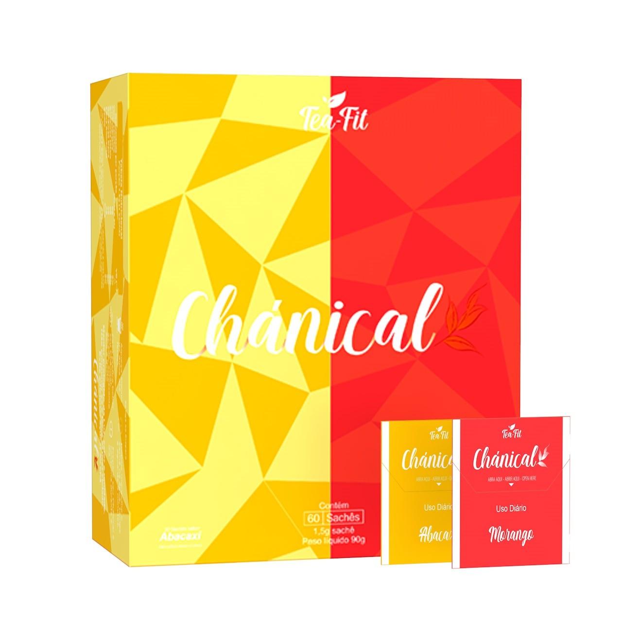 Chánical Tea-Fit 60 Saches Morango e Abacaxi  - KFit Nutrition