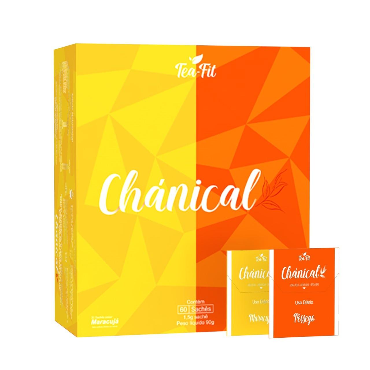 Chánical Tea-Fit 60 Saches Pêssego e Maracujá  - KFit Nutrition