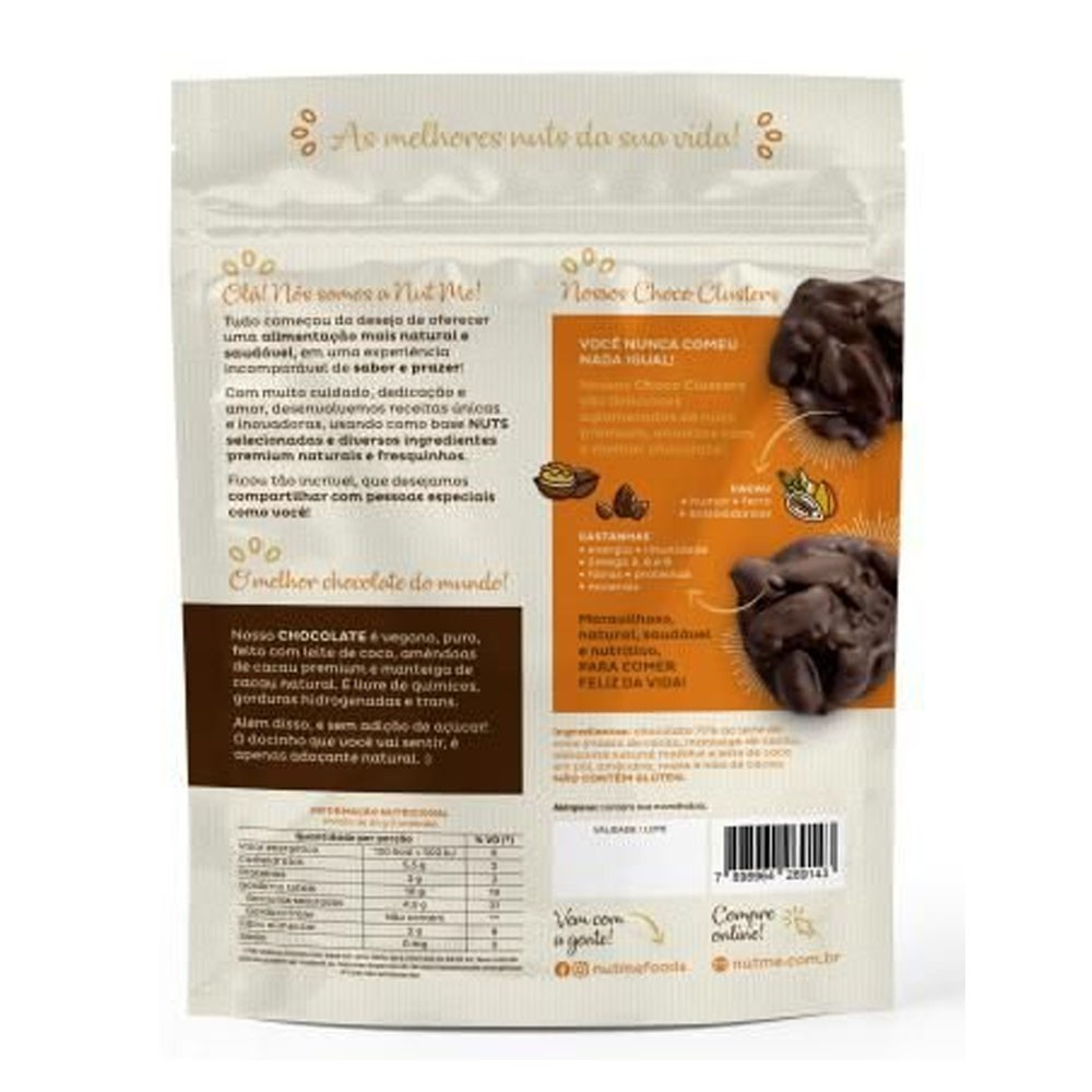 Choco Cluster Almond Nibs 100g - NUT ME  - KFit Nutrition