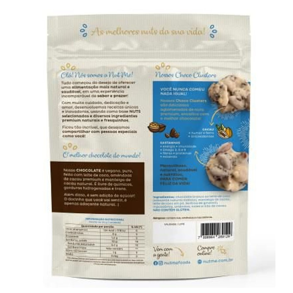Choco Cluster White Macadamia 100g - NUT ME  - KFit Nutrition
