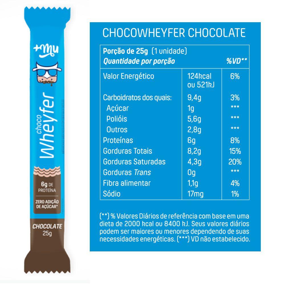 Choco Wheyfer Sabor Chocolate 25g +Mu Cx 12Un  - KFit Nutrition