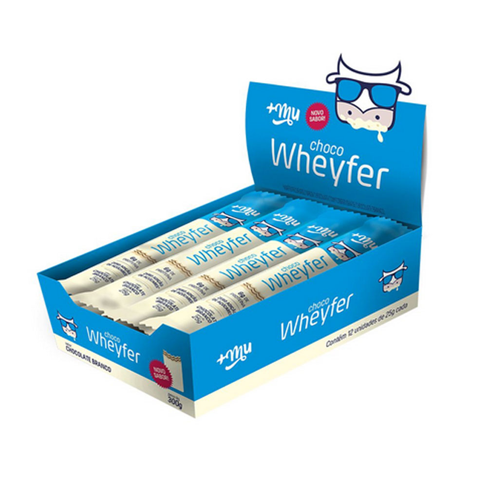 Choco Wheyfer Sabor Chocolate Branco Cx 12un 300g - Mais Mu  - KFit Nutrition