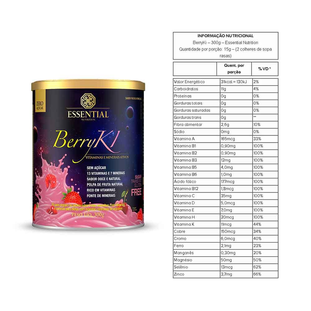 Chocoki 300g Essential e Berryki 300g Essential e Vitabear 60 Gomas Frutas  - KFit Nutrition