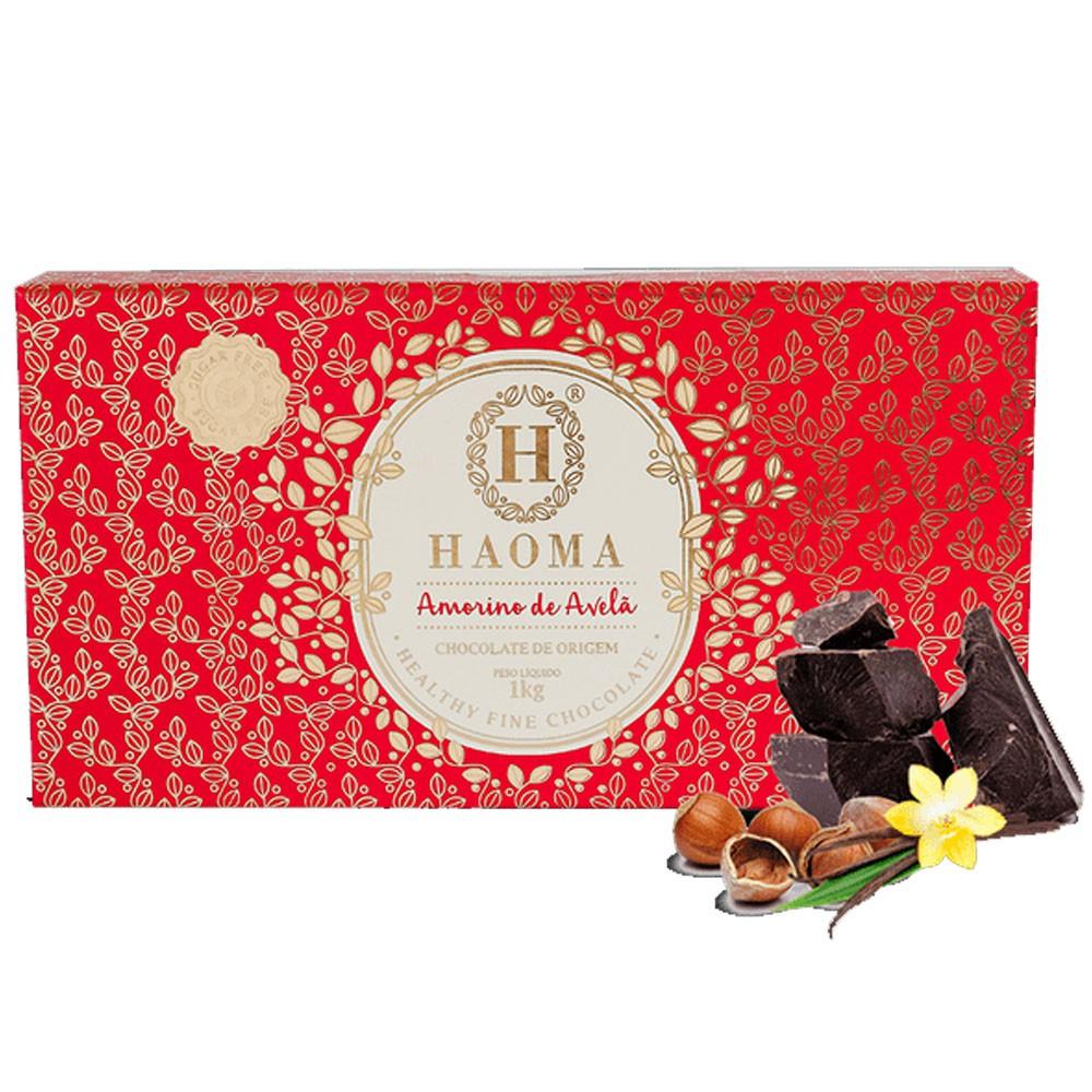 Chocolate Bar 1Kg Amorino de Avelã - Haoma  - KFit Nutrition