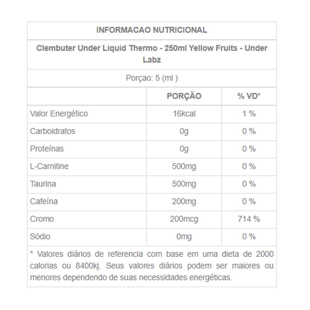 Clembuter Under Yellow Fruits 250ml - Under Labz  - KFit Nutrition