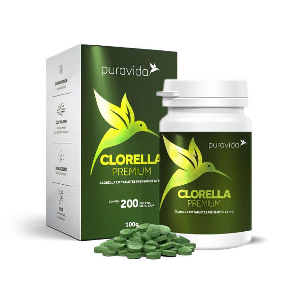 Clorella Premium 200 Tab Puravida  - KFit Nutrition