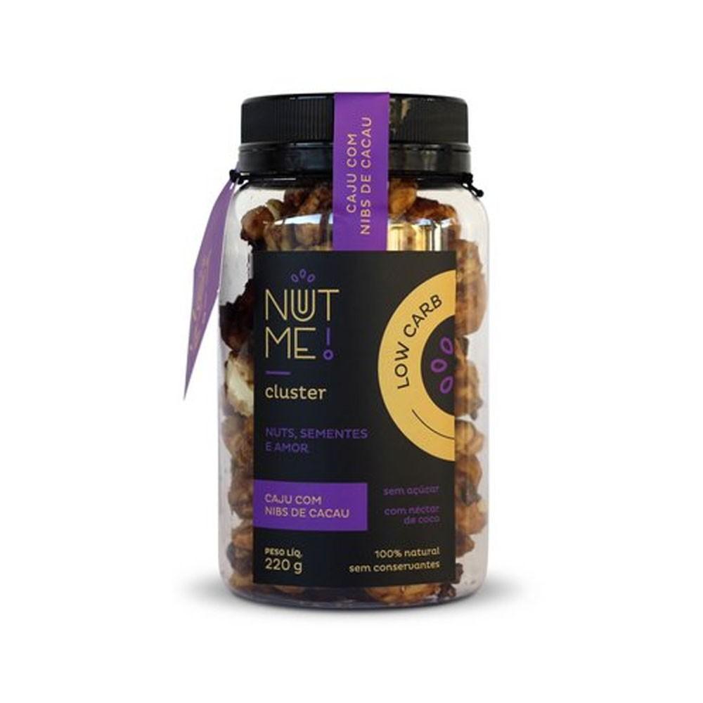 Cluster Caju com Nibs de Cacau 230g Low Carb  - NUT ME  - KFit Nutrition