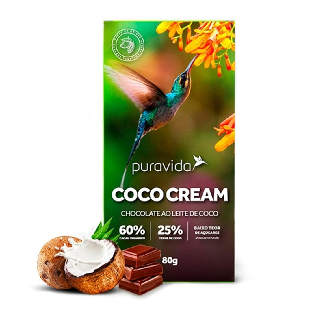 Coco Cream Chocolate Ao Leite de Coco 80g  - KFit Nutrition