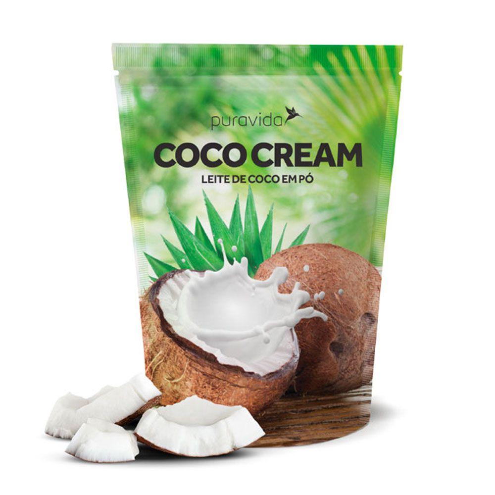 Coco Cream Leite de Coco Em Pó 250g Puravida  - KFit Nutrition