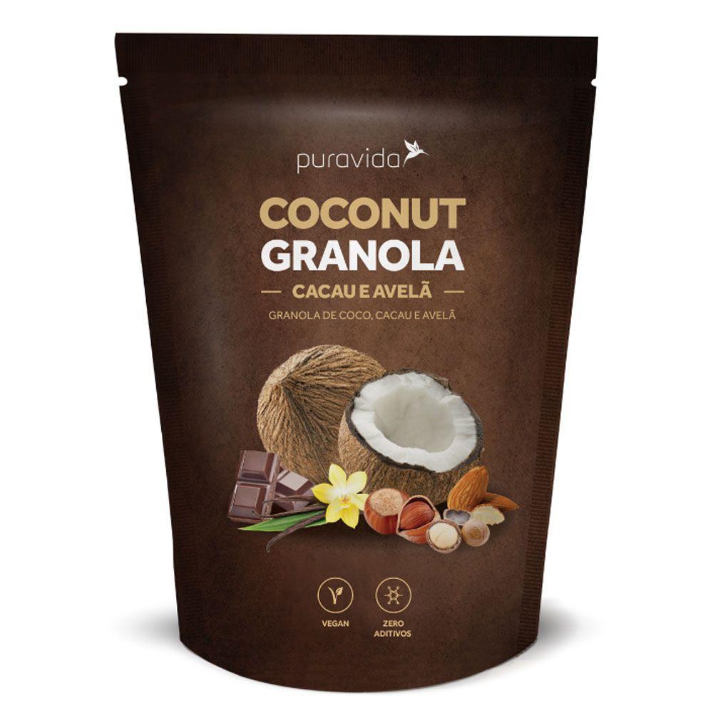 Coconut Granola Cacau e Avelã 250g Puravida  - KFit Nutrition