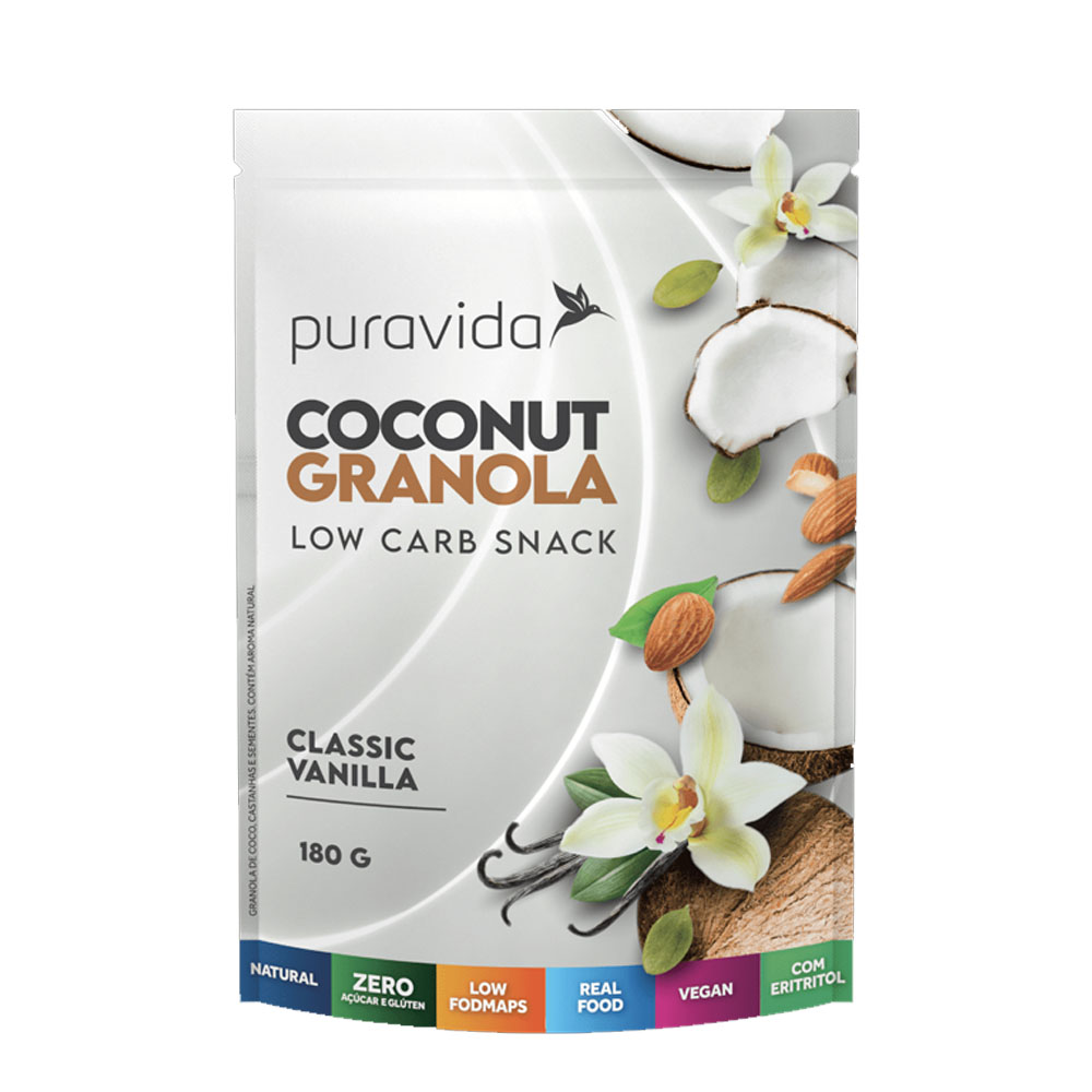 Coconut Granola Classic Vanilla 180g - Puravida  - KFit Nutrition