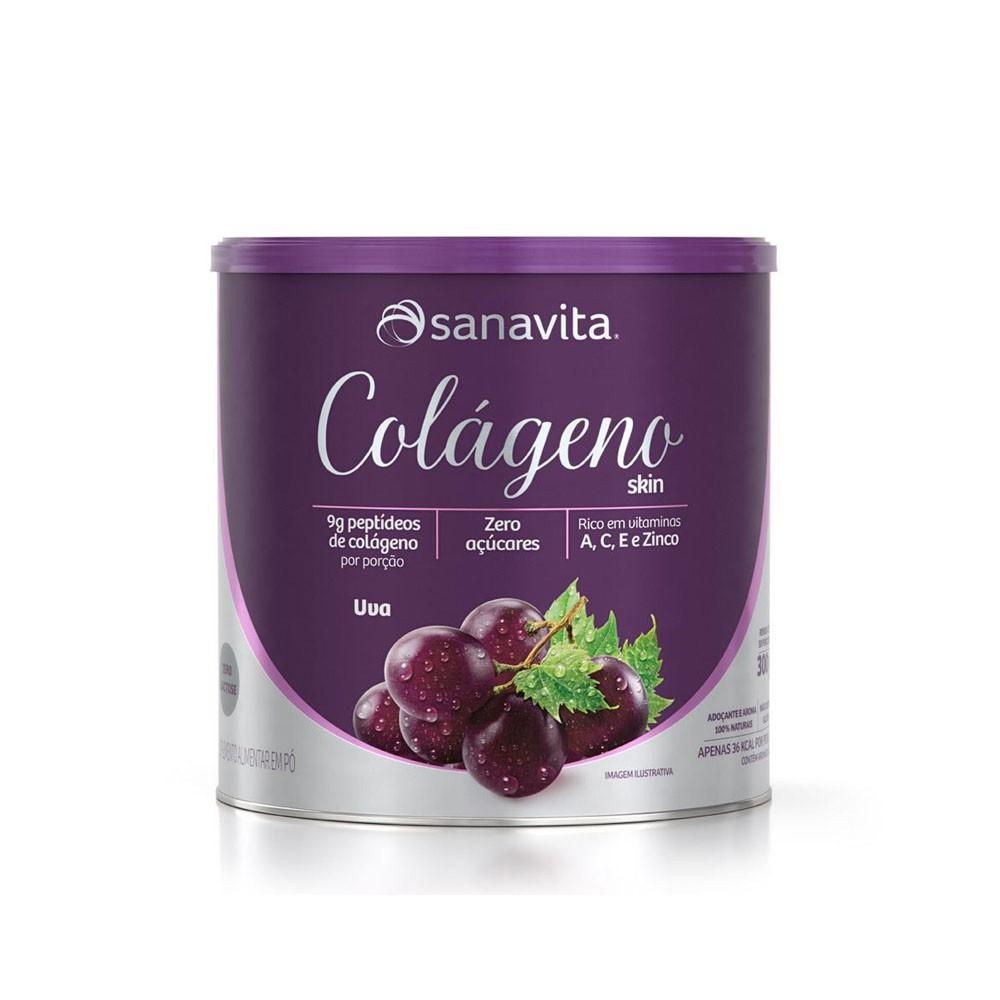 Colágeno Skin Uva 300g - Sanavita  - KFit Nutrition