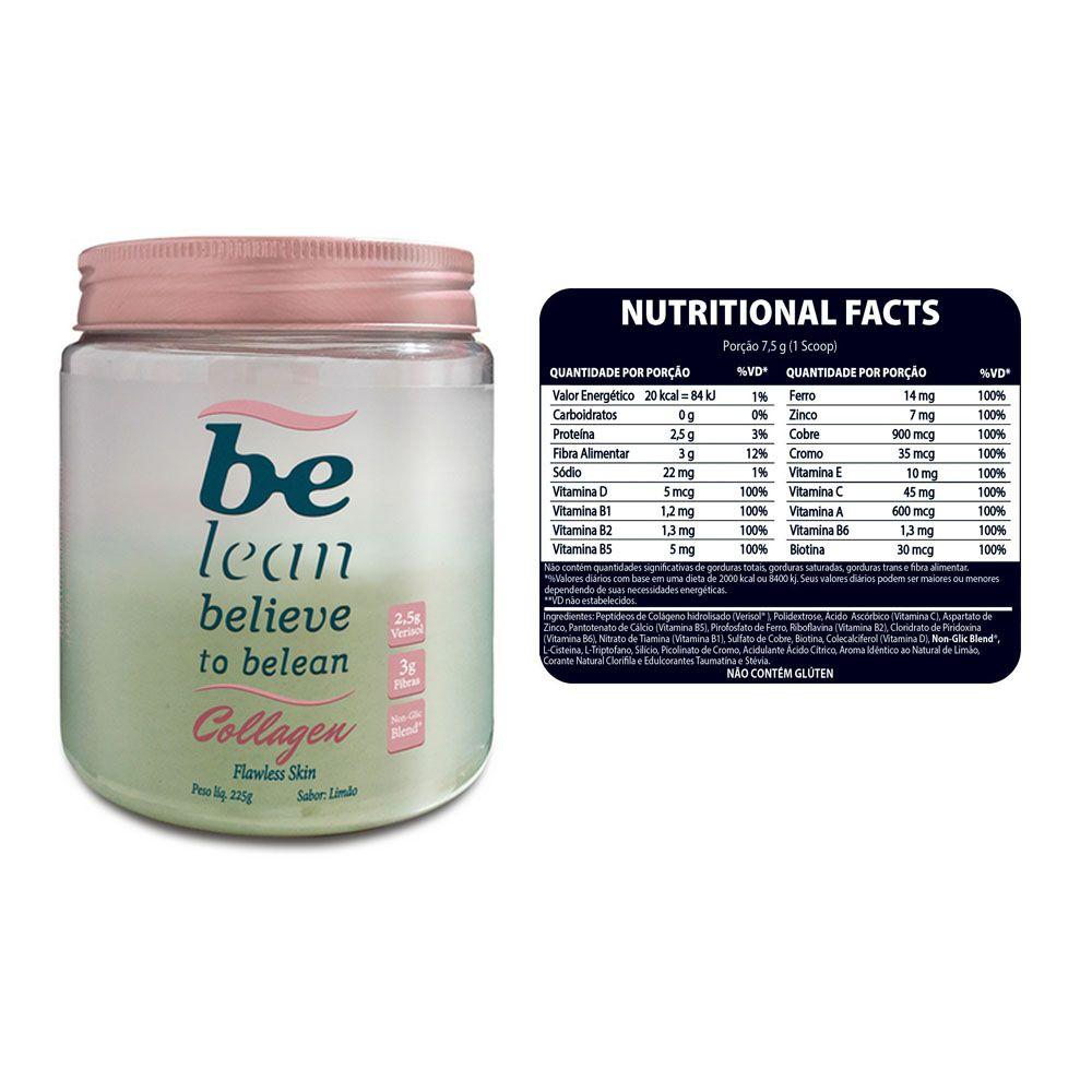 Collagen Limão 225g - Be Lean  - KFit Nutrition