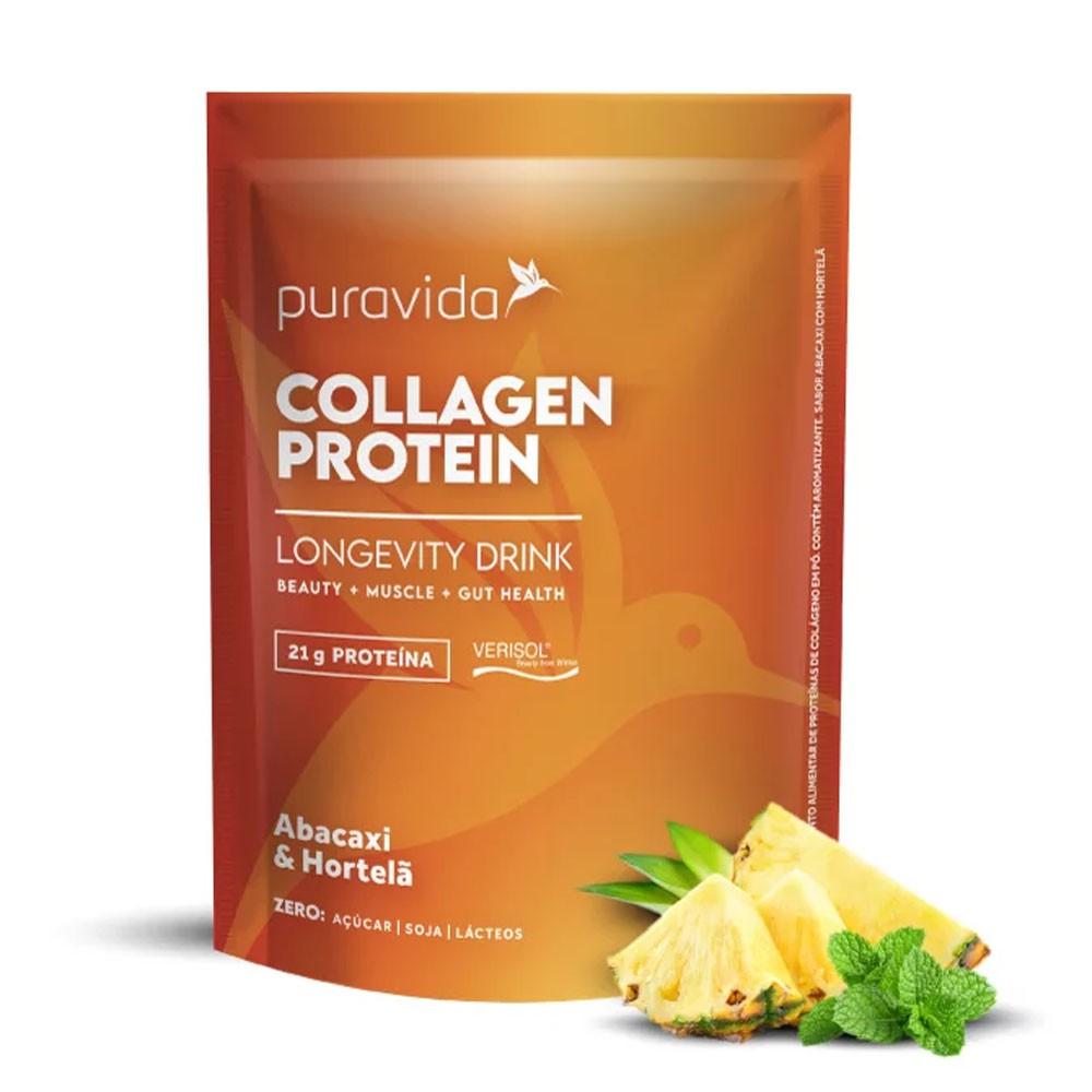 Collagen Protein  Abacaxi Com Hortelã 450g Puravida  - KFit Nutrition